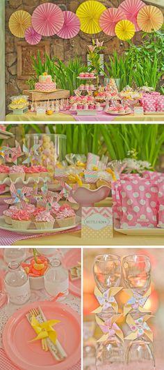 Pink Lemonade Theme summer verão rosa e amarelo
