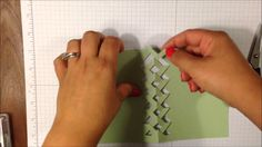 card making video tutorial: Braided Card WOW Wednesday #4 ... super fancy with ribbon laced through the lattice ...