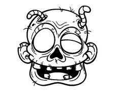 Dibujo de Bruja con pcima para Colorear  Dibujos de Halloween