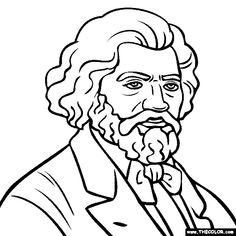 frederick douglass coloring page