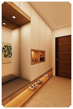 Modern foyer decorating with lights, - Small room design Foyer Design, Hallway Designs, Entry Way Design, Hall Design, Staircase Design, Hallway Ideas, Entryway Ideas, Modern Staircase, Small Room Design