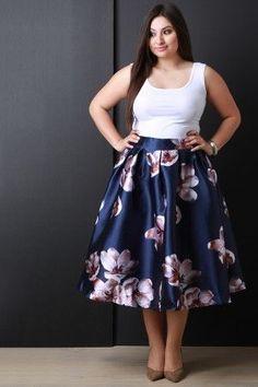 Taffeta Floral Pleated Midi Skirt