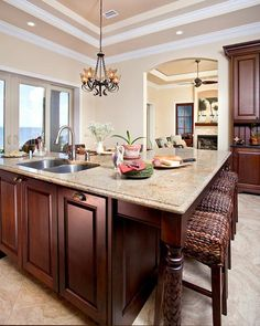 Kitchens .com - Traditional Kitchens - Kitchen Island with Dishwasher and Sink