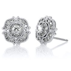Dion's CZ Vintage Stud Earrings
