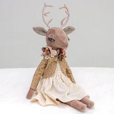 Image of Deer heirloom doll