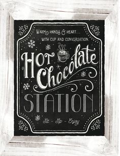 Hot Cocoa Bar Sign by WeeBabyShower on Etsy