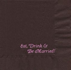 Napkin Samples | Personalized Napkins and Party Supplies
