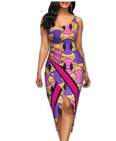 2018 summer sexy dress for women AFRIPRIDE customized Africa print sleeveless o-neck mid-calf length women cotton dress
