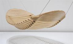 hamaca de maderos  de Aussie designer Adam Cornish.