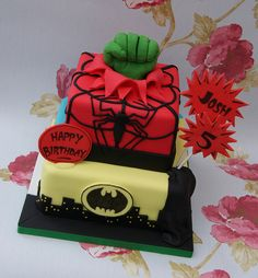 Superhero Cake by Cakes by Occasion, via Flickr