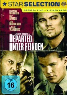 Departed - Unter Feinden  2006 USA,Hong Kong      Jetzt bei Amazon Kaufen Jetzt als Blu-ray oder DVD bei Amazon.de bestellen  IMDB Rating 8,5 (437.931)  Darsteller: Leonardo DiCaprio, Matt Damon, Jack Nicholson, Mark Wahlberg, Martin Sheen,  Genre: Crime, Drama, Thriller,  FSK: 16