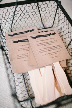 A great idea to have the wedding programs on popsicle sticks to fan oneself it is a summer wedding! The other side could have the thankyou on.