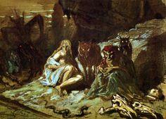 Alphonse de Neuville: Scène de Sorcellerie