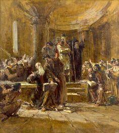 Պատասխան Հազկերտին. 1947, կտավ, յուղաներկ, by Eduard Isabekyan
