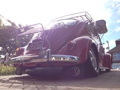 my '66 restocal vw beetle with her new Bugpack Header and Mondo muffler