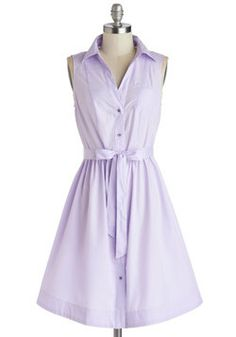 "Grape Ice Dress, #ModCloth Simple, flirty, and fun looking. This dress just screams ""A fun day at the carnival.""  Or just a casual stroll through the park....either way I love the color and adore the endless posibilities this dress presents for accesorizing!"