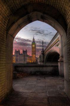 Big Ben at sunset by Michael Cavén, via 500px