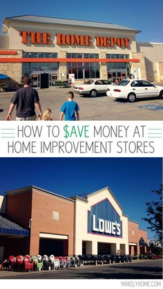 Tips on Saving Money at Home Improvement Stores via http://MakelyHome.com