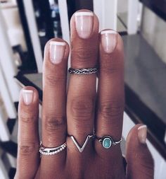 Emerald Ring/ Gold Single Emerald Engagement Ring/ Emerald Gemstone Ring/ Stacking Natural Emerald Ring The dazzling solitaire emerald is set on a dainty solid gold ring band. Cute Jewelry, Jewelry Rings, Jewelry Accessories, Silver Jewelry, Silver Earrings, Cute Nails, Pretty Nails, Rings Tumblr, Nail Ring