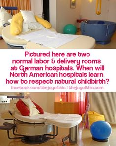 This is a pic of a Labor And Delivery room in Germany where apparently this is common.oh how I wish American Hospitals could offer this! Delivery Room, Postpartum Care, Natural Birth, Midwifery, Kids Corner, Doula, Breastfeeding, Just In Case, Baby Kids