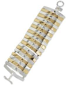 Robert Lee Morris Soho Two-Tone Flex Link Bracelet