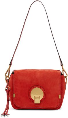 Chloé - Red Suede Small Indy Bag