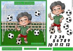 In the Net Goalie on Craftsuprint designed by Barbara Alderson - square card front with toppers and a good choice of ages for the little footballer - Now available for download!