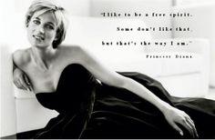 Princess Diana quote. Inspirational woman. Freedom