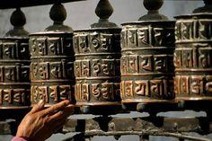 Tibetische Gebetsmühlen