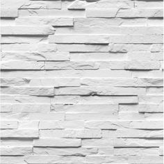Stacked stone creates the apperance of a rustic texture while giving a room a contemporary feel. The faux stone wallpaper will create a convincing facade in your home. Felman is a paste the wall, non woven wallpaper. White Textured Wallpaper, Brick Wallpaper Roll, Trellis Wallpaper, Stone Wallpaper, Embossed Wallpaper, Diy Wallpaper, Wallpaper Panels, Geometric Wallpaper, White Wallpaper