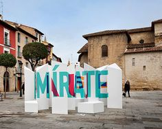 perspective-localized typographic installation by boa mistura