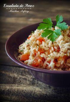 ENASALADA SANA DE ARROZ   Hoy para comer nos vamos a preparar una rica ensalada de arroz. El buen tiempo ya hace acto de presencia y muchos...