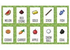 Placa Comidas Minecraft - Arte Digital | Caked Personalizados | Elo7