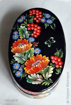 Поделка, изделие Папье-маше, Рисование и живопись: шкатулки Гуашь. Фото 5