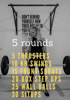 Garage CrossFit Source by thelifestyleloop Fitness Workouts, Wod Workout, Fitness Tips, Crossfit Workout Program, Crossfit Warmup, House Workout, Rowing Workout, Kettlebell Circuit, Kettlebell Swings