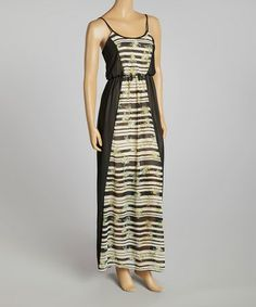 Look what I found on #zulily! Black Geo Color Block Maxi Dress by SHE #zulilyfinds