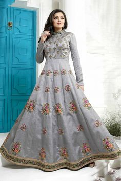 Silk Anarkali Suits, Salwar Suits, Salwar Kameez, Lehnga Dress, Lehenga Choli, Indian Gowns Dresses, Indian Outfits, Simple Dresses, Beautiful Dresses