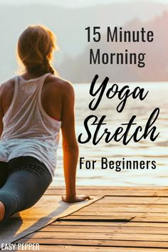 Step up your fitness and weight loss goals to wake up more energized with this morning yoga stretch for beginners Yoga poses for beginners Yoga to lose weight Morning Yoga Routine For Beginners Morning Yoga Stretches, Yoga Stretches For Beginners, Yoga Routine For Beginners, Morning Yoga Routine, Beginner Yoga, Yoga For Weight Loss, Weight Loss Goals, 15 Minute Morning Yoga, Learn Yoga