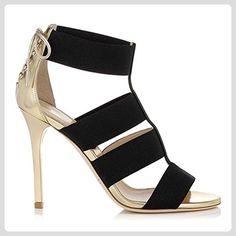 Minitoo ,  Damen Peep Toes , Schwarz - schwarz - Größe: 41 - Sandalen für frauen (*Partner-Link)