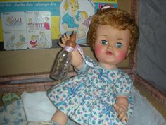 Ideal Betsy Wetsy Doll, I Wrapped Her In A Baby Blanket And She Was My Baby And I Was Her Little Mama.