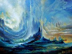 peinture surréaliste « Shores of Heaven » / « Rives du Paradis » par Freydoon RASSOULI • peintre américain d'origine iranienne — http://maessage.wordpress.com