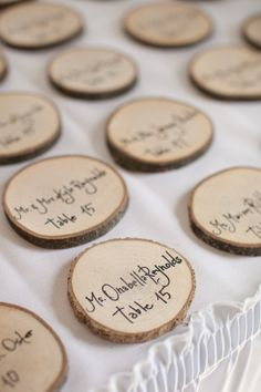Wooden Placecards, DIY Rustic Wedding, Wedding Photography • Styled Pink Photography