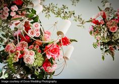 Gorgeous flowers hanging from chandeliers :) Stunning Tented Ceremony at Historic Cedarwood | #CedarwoodWeddings #WeddingIdeas #WeddingPhotography #CountryWedding