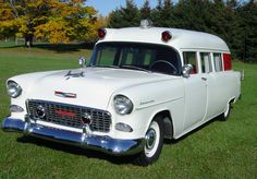 1955 Chevy ambulance - so cool!
