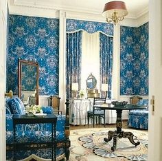 """A room in the White House called the """"Queens' Sitting Room"""" as redecorated by Jacqueline Kennedy"""