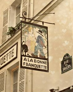 Vintage shop sign, Paris, France