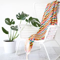 Luxurious Colourful Zig Zag Bath or Beach Towel