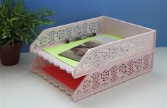 Desk Organizer- A4 Paper Tray - Pack of 2