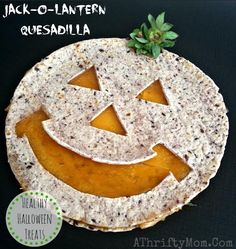 Healthy Halloween Treats, Jack O Lantern Quesadilla #Pumpkins, #Halloween, #HealthyTreats