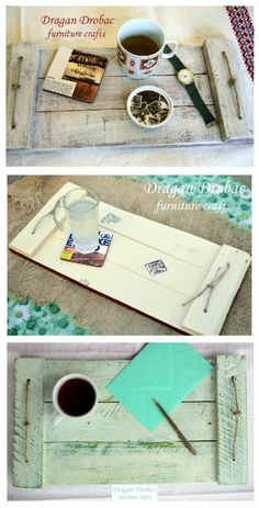 Upcycled Pallet Into Serving Trays